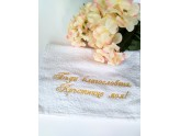 Embroidered towel for the Godmother with a blessing