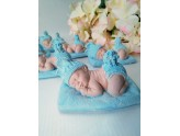 Guest gift baby bunny in blue